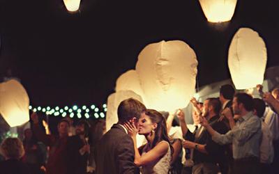 Lancer lanterne mariage