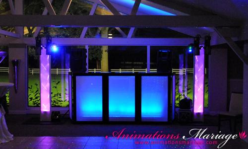 Éclairage décoratif de notre installation Dj